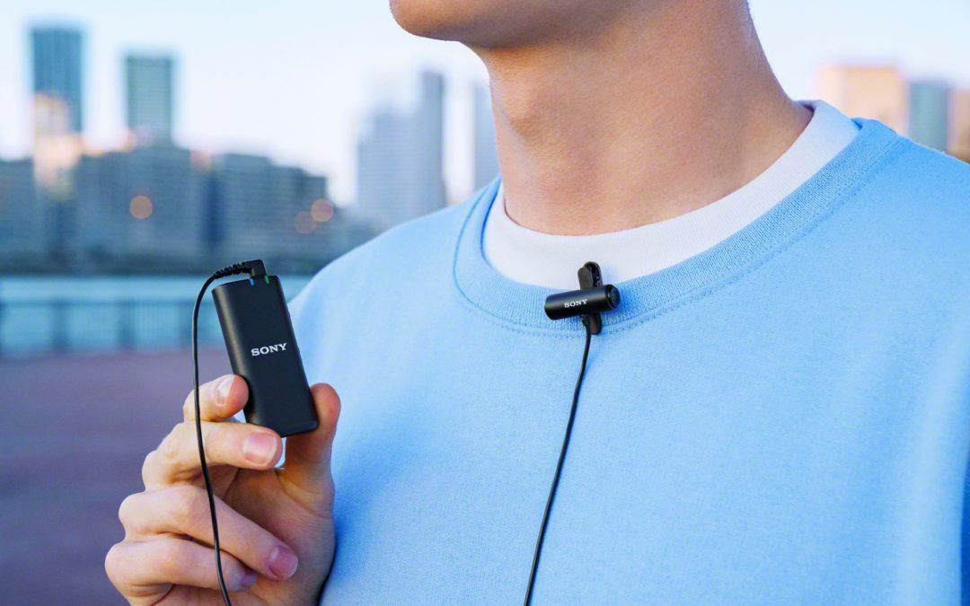kabelloses Mikrofon ECM-W2BT und kompaktes Stereo-Lavaliermikrofon ECM-LV1 von SONY